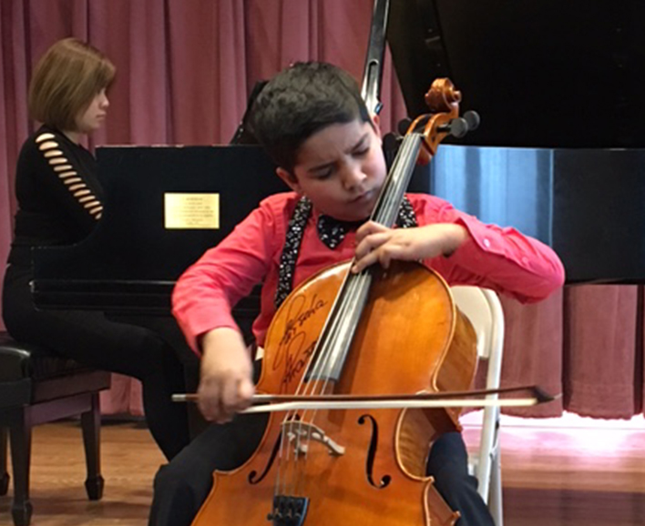 Jivan Ramesh, cello talent and UNHS student