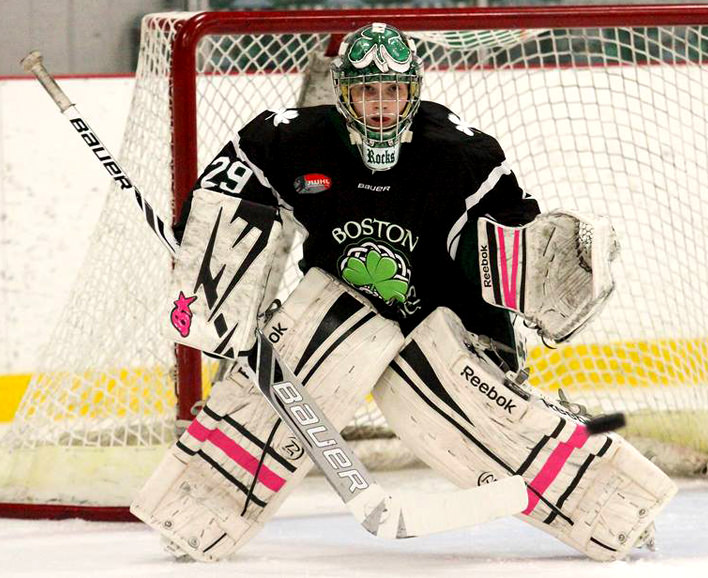 Kassi, UNHS student, Boston Shammrocks goalie