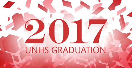 2017 UNHS Graduation Badge Graphic