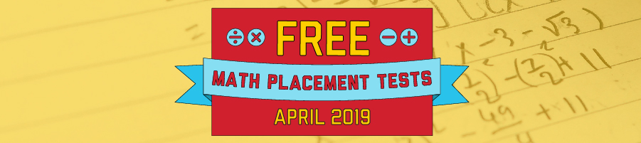 UNHS Free Math Placement Tests Banner